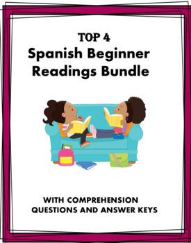 Spanish Beginner Readings - Familia, Escuela, Deportes, Amigos - 4 Lecturas!