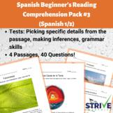 Spanish Beginner's Reading Comprehension Pack 3 (Spanish 1)