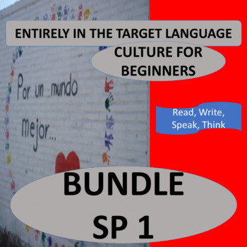 Spanish Beginners Culture Bundle – 16 thematic units