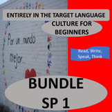 SPANISH 1 (Beginners) CULTURE BUNDLE – 16 CONTENT-BASED UNITS