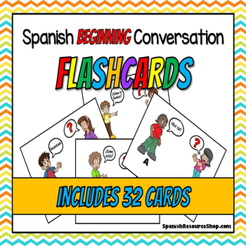 Beginning Spanish Conversation Flash Cards BUNDLE