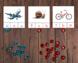 Sonido Inicial/Beginning Letter Sound Cards in Spanish - M