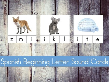 Sonido Inicial/Beginning Letter Sound Cards in Spanish