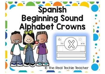 Spanish Beginning Sound Alphabet Crowns