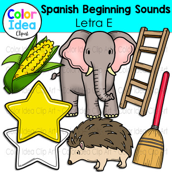 Spanish Beginning Sound Clip Art - Letra E