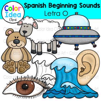 Spanish Beginning Sound Clip Art - Letra O