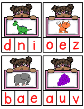Spanish Beginning Sound Clip-It Cards:  Spring Theme