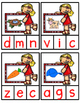 Spanish Beginning Sound Clip-It Cards:  Spring Theme