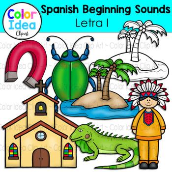 Spanish Beginning Sound Clip Art - Letra I