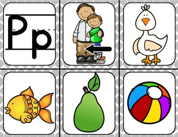 Spanish Beginning Sound Picture Cards