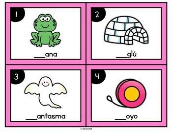 Spanish Beginning Sound Task Cards