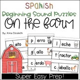 Spanish Beginning Sounds Puzzles - On the Farm