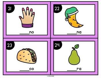 Spanish Beginning Syllable Task Cards
