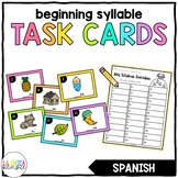 Spanish Beginning Syllable Task Cards