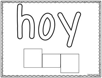 Spanish- Beginning Word Learning Mats