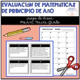 Spanish Beginning of Year Math Assessment for 3rd Grade Scoot Game