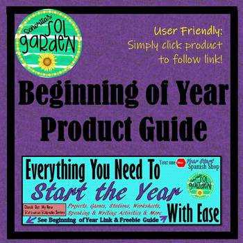 Spanish Beginning of Year Review - Product Guide - Everything you Need