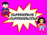 Spanish Behavior Chart Superheroes