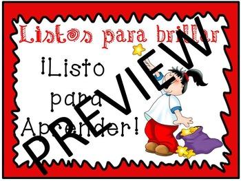 Behavior Chart: Spanish with Red Border