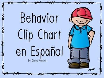 Spanish- Behavior Clip Chart