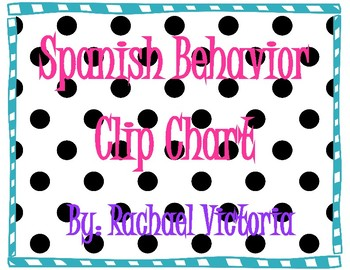 Spanish Behavior Clip Chart