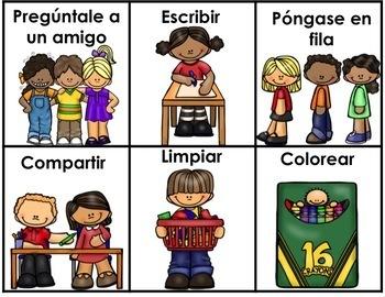 Spanish Behavior Management Lanyard Editable for any Language Dollar Deal
