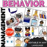 Behavior Management Visuals Editable for any Language