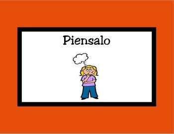 Spanish Behavior clip chart