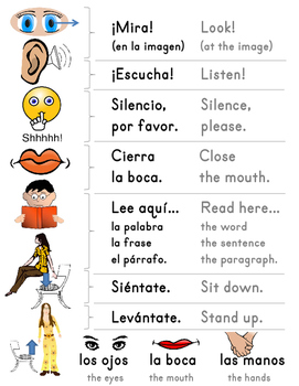 Spanish Behavioral Teaching Phrases Interactive pdf