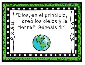 Spanish Bible Verse Posters/ Versículo Bíblico Posters