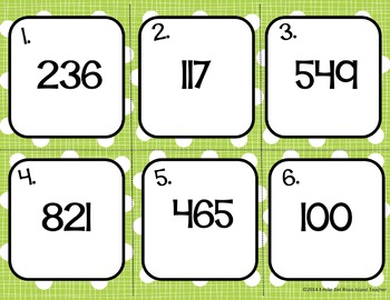 Spanish Big Numbers Task Cards Speaking and Writing Activity