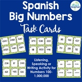 Spanish Task Cards Big Numbers Speaking and Writing Activity