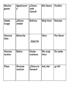Spanish Bingo