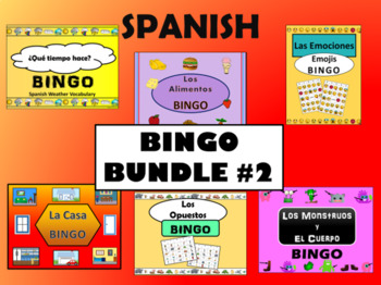 Spanish Bingo BUNDLE #2 - 6 more Spanish BINGO Games