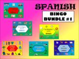 Spanish Bingo Bundle – 6 Spanish Vocabulary Bingo Games