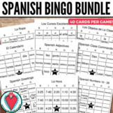Spanish Games - Spanish Vocabulary Bingo Bundle - Beginnin