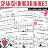 Spanish Games - Spanish Vocabulary Bingo Bundle for Spanis