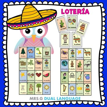 graphic about Loteria Game Printable known as Spanish Bingo Match: Lotería via Mrs G Twin Language TpT