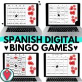 Spanish Bingo Games for Google Slides - Digital Bingo - Be