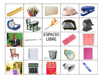 Spanish Bingo- La escuela/School Vocabulary