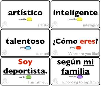 Spanish Bingo - Lotería ¿Cómo soy?