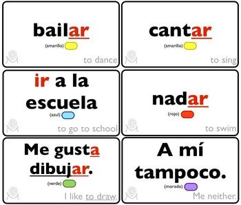 Spanish Bingo - Lotería Lo que me gusta hacer