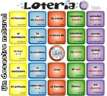 Spanish Bingo - Lotería Un desastre natural
