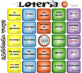 Spanish Bingo - Lotería ¿Adónde voy?