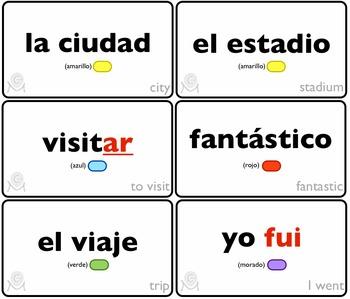 Spanish Bingo - Lotería En las vacaciones