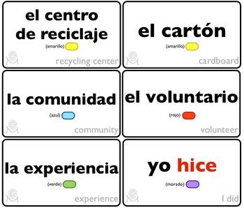 Spanish Bingo - Lotería Yo ayudo en mi comunidad