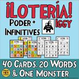 Spanish Bingo. Vocabulary for Poder and Infinitives. La Lotería y Vocabulario.