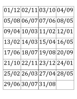 Spanish Bingo with Dates