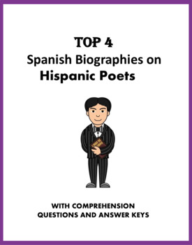Spanish Biography Bundle: Top 4 Hispanic Poets Biographies at 30% off!