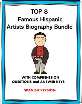 Spanish Biography Bundle: 8 Famous Hispanic Artists! (GROWING BUNDLE)